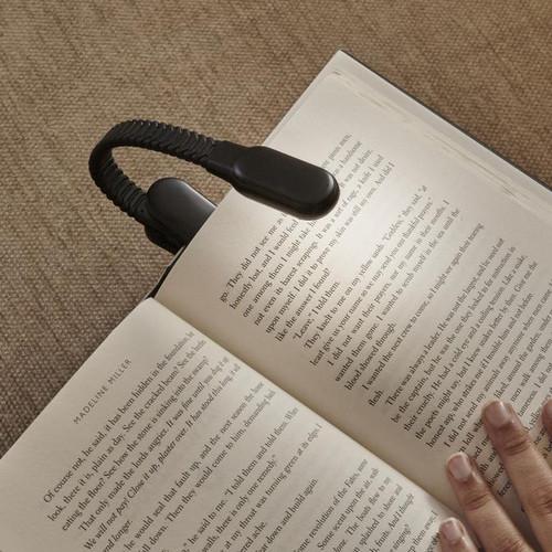 Rechargeable Clip Book Light Black