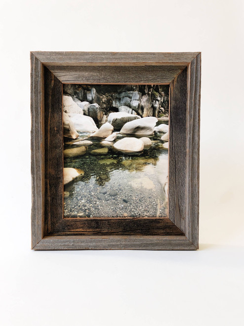 """8"""" x 10"""" Reclaimed Wood Double Frame"""