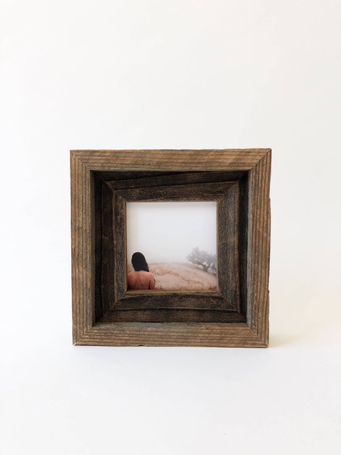 """4"""" x 4"""" Reclaimed Wood Double Frame"""