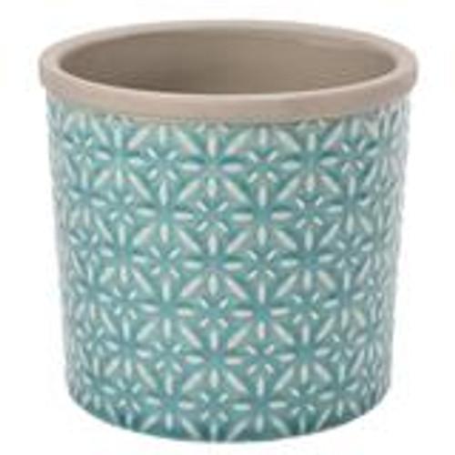 Glazed Pot - Tuscany Blue - Large