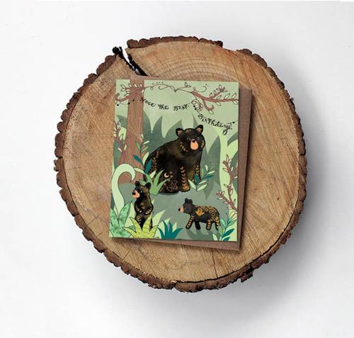 Black Bears Birthday Card