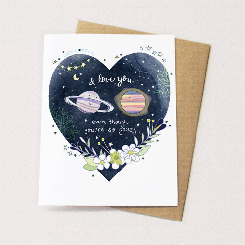 Gassy Planet - Love Card