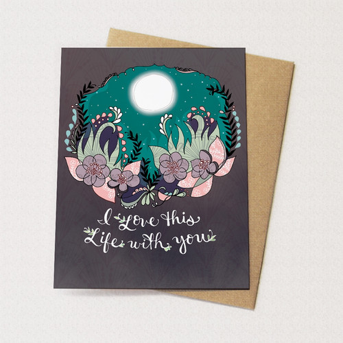 I Love This Life With You - Love Card
