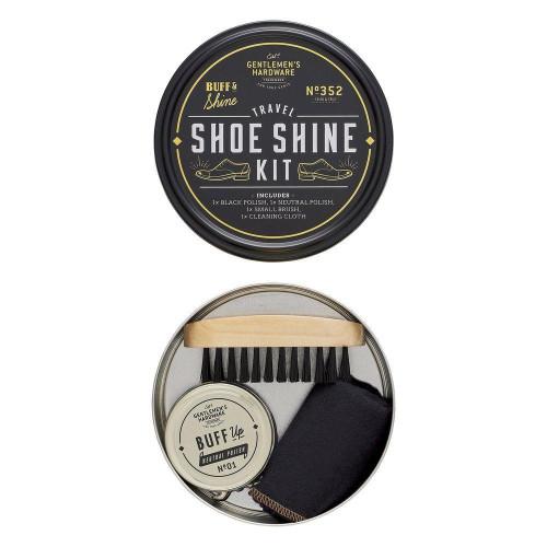 Travel Shoe Shine Tin