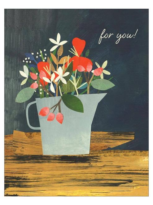 Blue Jug Meadow Birthday Card