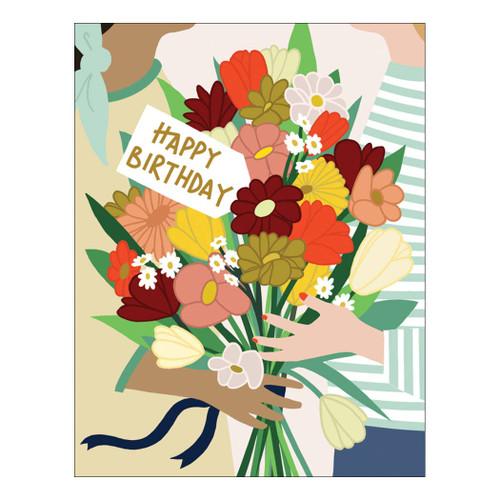 Flower Friends Birthday Card