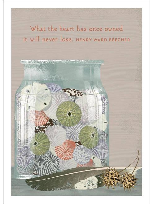 Shell Jar Sympathy Card