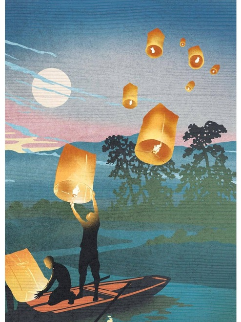 Lanterns Blank Card