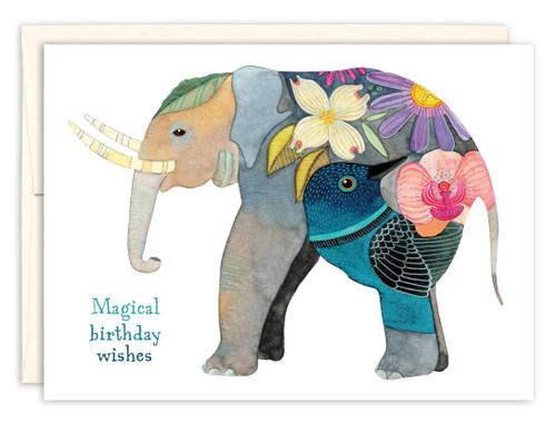 Artistic Elephant  Birthday Card