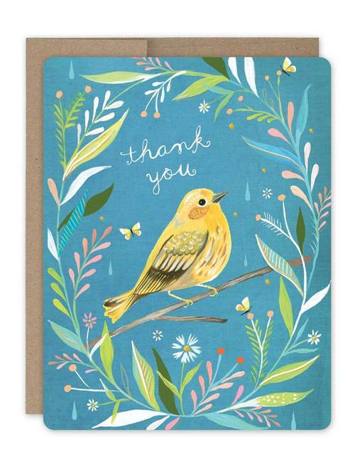 Bird Thank You Boxed Notecard