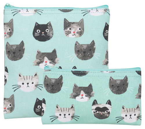 Snack Bags Set of 2 - Cats Meow