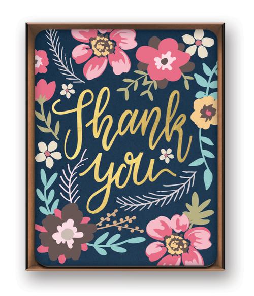 Artisan Thank You Note Card Set - Midnight Garden