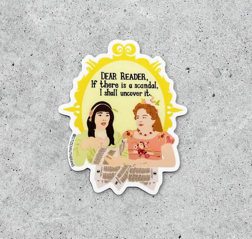 """""""Bridgerton"""" Lady Whistledown Sticker"""