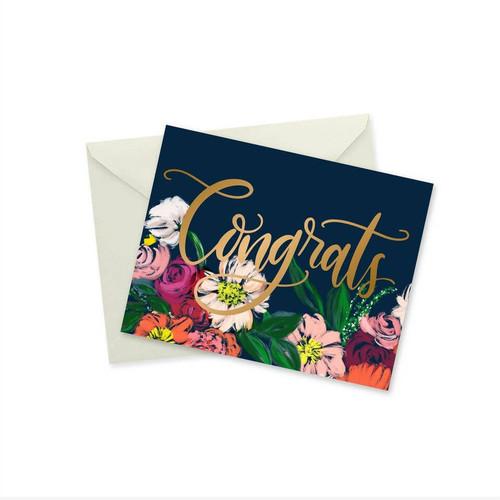 Congrats Gold Foil Notecard