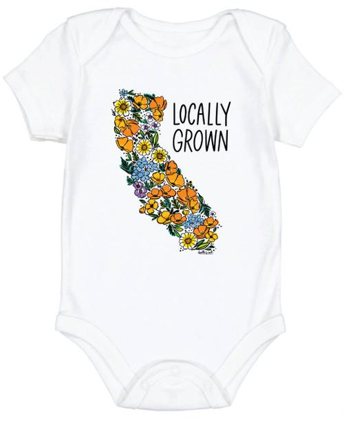 California Wildflowers - Locally Grown Onesie 6-12M