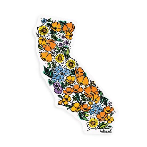 California Wildflower Sticker