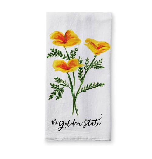 Golden State Poppies Tea Towel