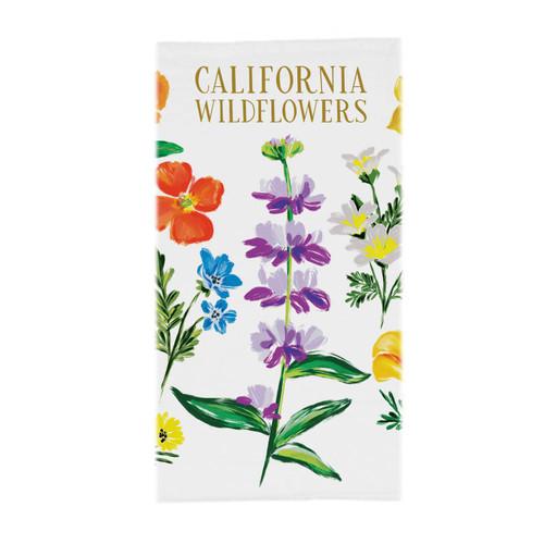 California Wildflowers Tea Towel