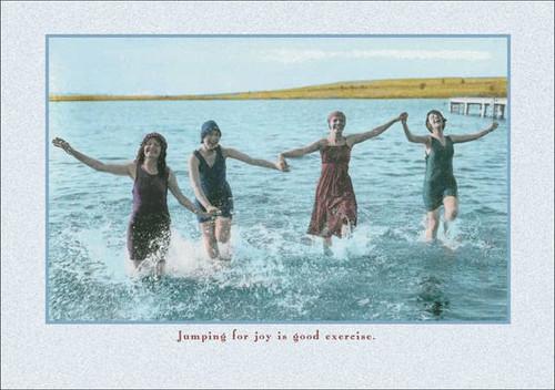 Jumping for Joy Birthday Card