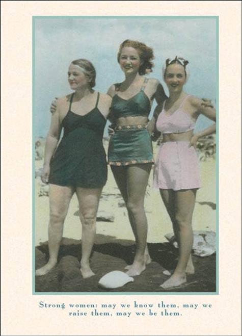 Strong Women Birthday Card