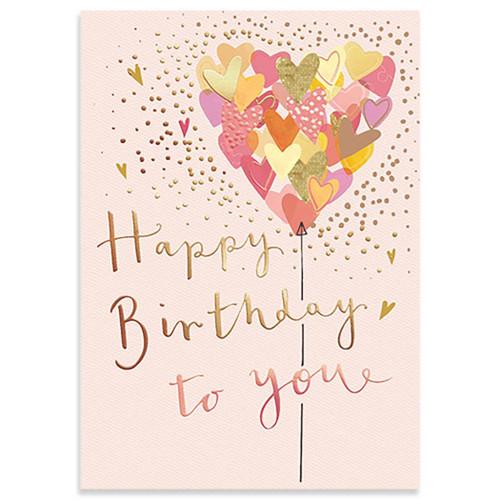 Heart Balloon Birthday Card
