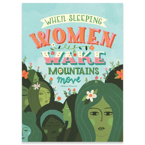When Sleeping Women Wake - Empowerment Card