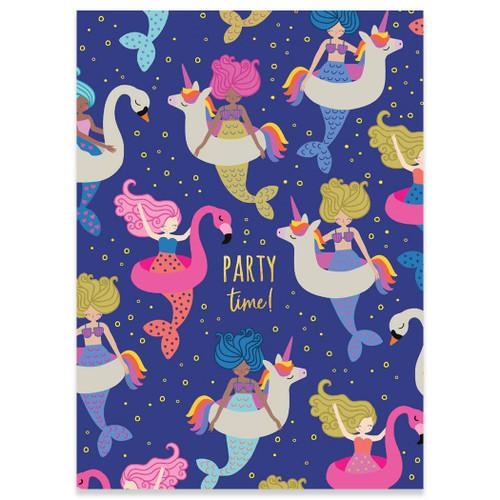Party Mermaids Birthday Card
