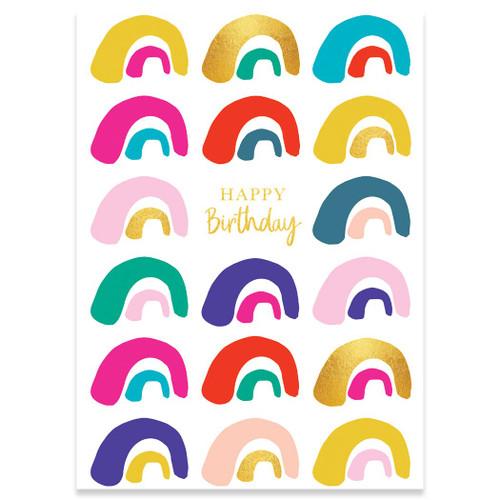 Rainbows Birthday Card