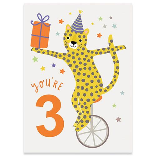 Three - Birthday Card