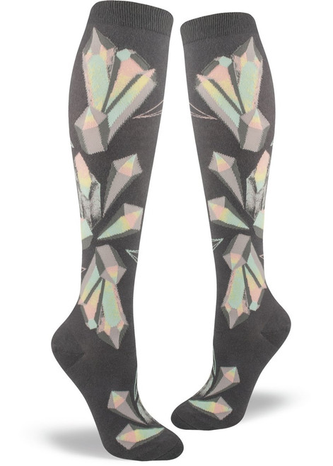 Crystals Knee Socks Iron