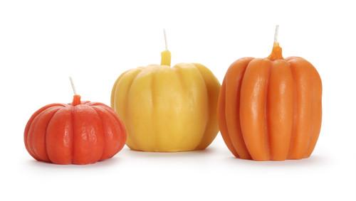 Small pumpkin is the dark orange on the left.