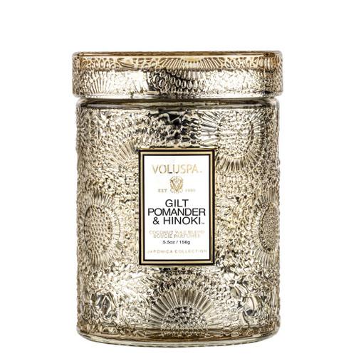 Gilt Pomander & Hinoki Small Glass Jar Candle 5.5oz