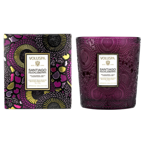 Santiago Huckleberry Embossed 9oz Boxed Classic Candle