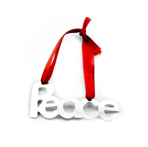 Peace Tin Ornament