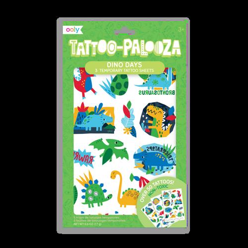 tattoo-palooza temporary tattoos - dino days - 3 sheets