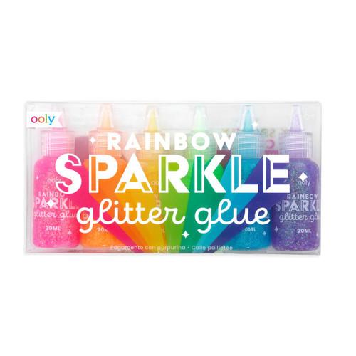 Rainbow Sparkle Glitter Glue Set of 6