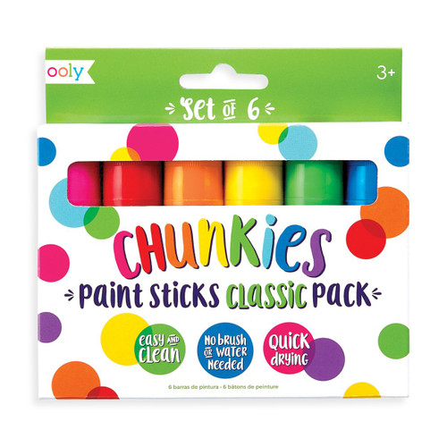 Six Pack of Chunkies Paint Sticks Classic Pack