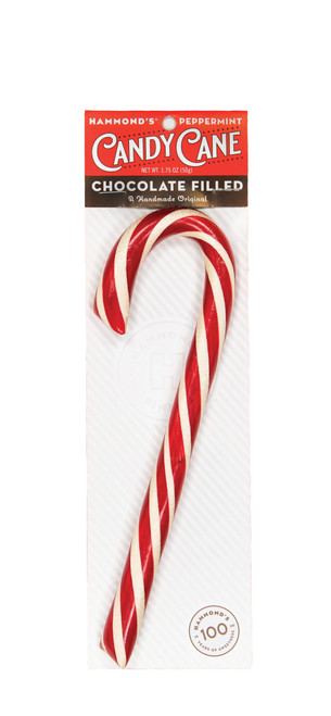Chocolate Filled Peppermint Candy Cane 2 oz.