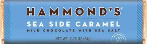 Natural Sea Side Caramel Milk Chocolate Candy Bar 2.25oz.