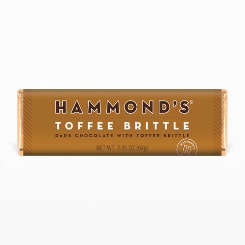 Natural Toffee Brittle Dark Chocolate Candy Bar 2.25oz.