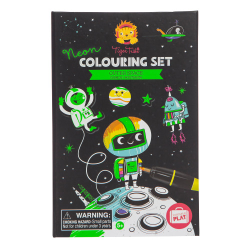 Outer Space - Neon Coloring Set