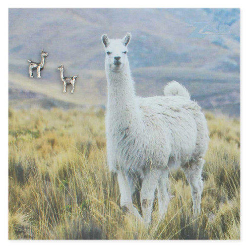 Llama Post Earring