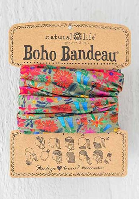 Boho Bandeau Green Floral