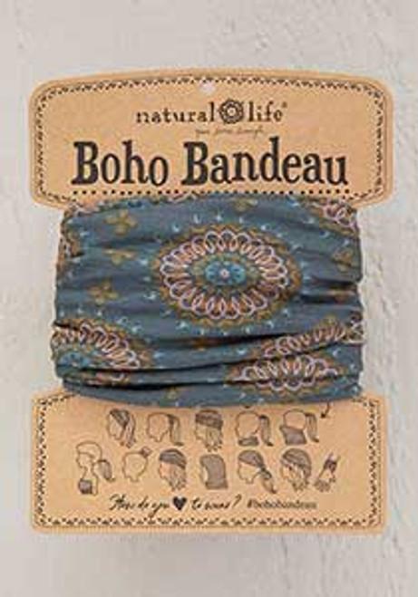 Sage / Gold Medallion Boho Bandeau BBW217