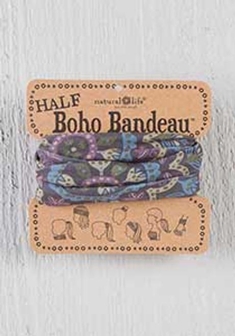 Half Bandeau Black Navy Purple Cream