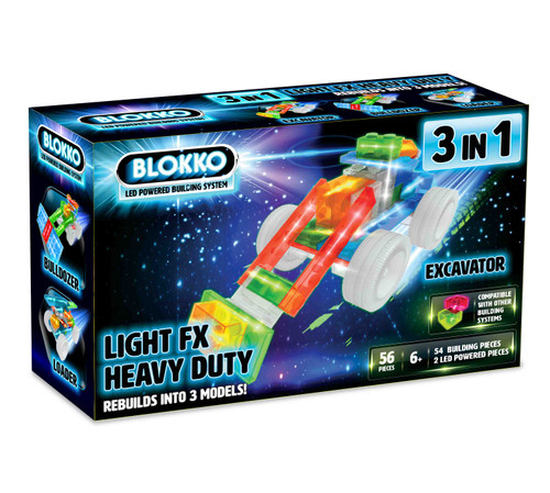 Blokko 3 in 1 LED Powered Building System - Heavy Duty Set