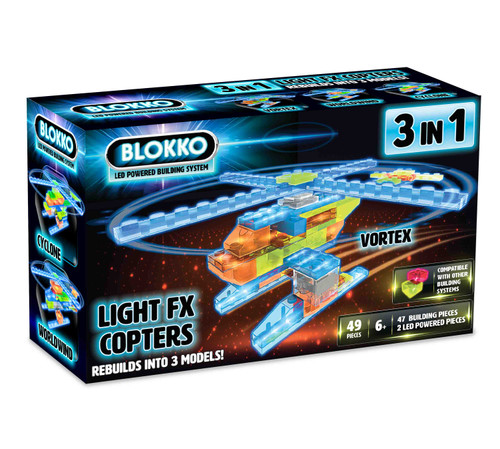 Blokko Copters 3 in 1 building set