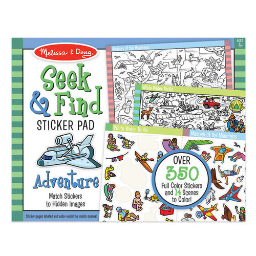 Seek and Find Sticker Pad - Adventure