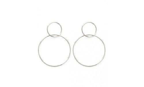 Double Ring Stud Earring