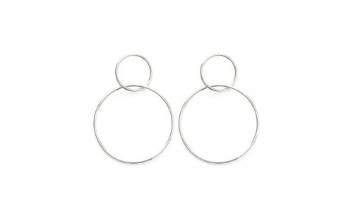 Double Ring Stud Earring
